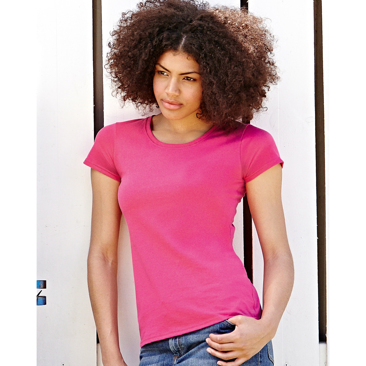 T-shirt Fruit of the Loom Lady-Fit Value Weight
