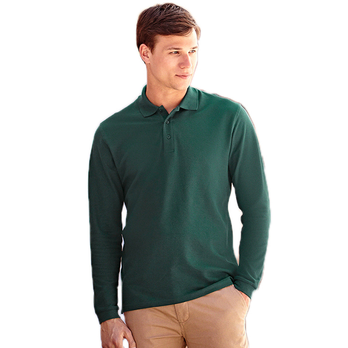 Polo Premium Fruit of the Loom maniche lunghe