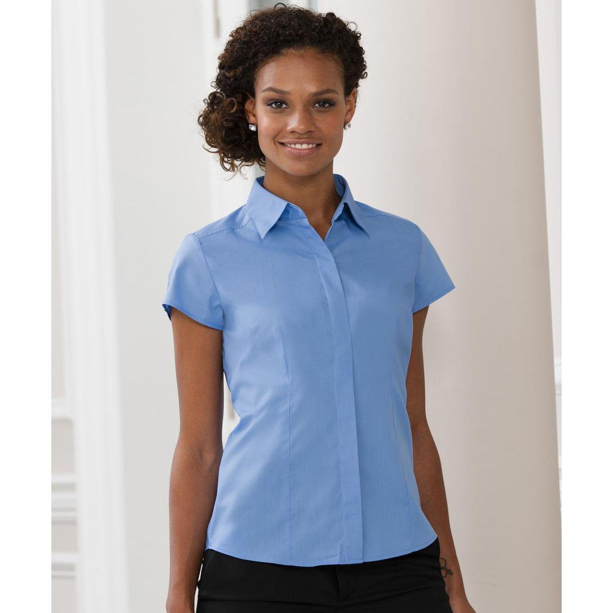 reputable site e0195 37160 Camicia Donna Russel Popeline manica corta - Camicie ...